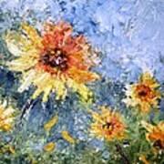 Sunflowers In Bloom Art Print