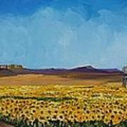 Sunflowers In The Sun Art Print