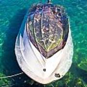 Sunken Motor Boat After Storm Art Print