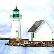 Sunken Rock Lighthouse Ny Art Print