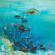 Sunken Ship Habitat Art Print