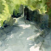 Sunlight And Foliage Conservatory Garden Central Park Watercolor Painting Art Print