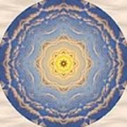 Sunlight Cloud Waves Mandala Art Print