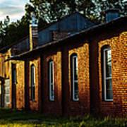 Sunlight On Old Brick Building - Ellensburg - Washington Art Print