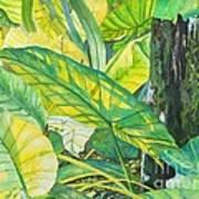 Sunlit Elephant Ears Art Print