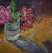 Sunlit Roses Art Print