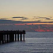 Sunny Isles Fishing Pier Sunrise Art Print