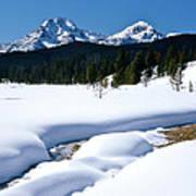 Sunny January Day Sawtooth Mountains Art Print