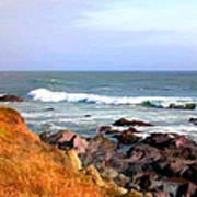 Sunny Ocean Shoreline Art Print