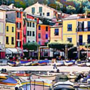 Sunny Portofino - Italy Art Print