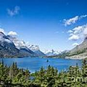 Sunny Saint Mary Lake Art Print
