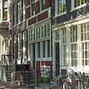 Sunny Street In Amsterdam Art Print