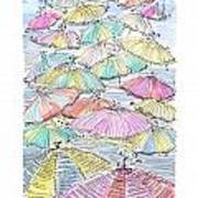 Sunny Umbrelas Art Print