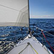 Sunny Yacht Bow Art Print