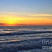 Sunrise And Waves Art Print