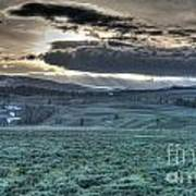 Sunrise At A Small Pond In Yellowstone Art Print