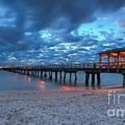 Sunrise At Anglin's Fishing Pier Art Print