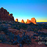 Sunrise At Arches National Park Art Print