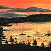 Sunrise At Bar Harbor Maine Art Print