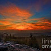Sunrise At Bear Rocks In Dolly Sods Art Print by Dan Friend