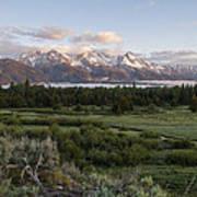 Sunrise At Grand Teton Art Print