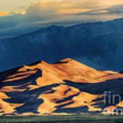 Sunrise At Great Sand Dunes Art Print
