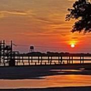 Sunrise At Lake Shelby Art Print