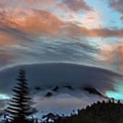 Sunrise At Mount Hood   Art Print