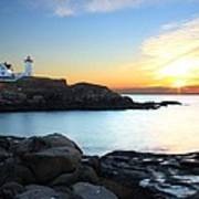 Sunrise At Nubble Art Print by Andrea Galiffi
