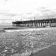 Sunrise At Surfside Bw Art Print