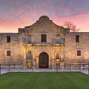 Sunrise At The Alamo San Antonio Texas 1 Art Print