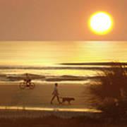 Sunrise At Topsail Island 2 Art Print