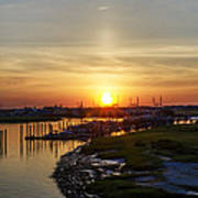 Sunrise At Two Mile Inlet - Wildwood Crest Art Print