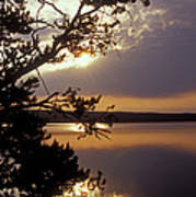 Sunrise At Yellowstone Lake Art Print