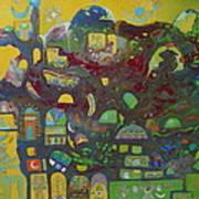 Sunrise City Art Print by Hira Bosh