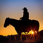Sunrise Cowboy Art Print