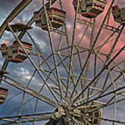 Sunrise Ferris Wheel Art Print