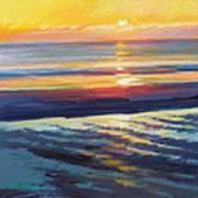 Sunrise Flats Print by Ed Chesnovitch