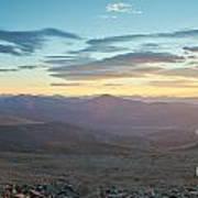 Sunrise From Mt Sherman Panorama Art Print