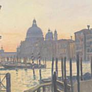 Sunrise Grand Canal Art Print