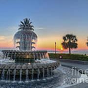 Sunrise In Charleston Art Print