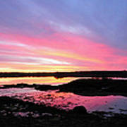 Sunrise In Maine Art Print
