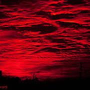 Sunrise In Red Art Print