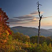 Sunrise In Shenandoah National Park Art Print