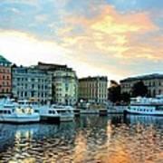 Sunrise In Stockholm Art Print