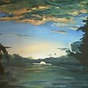 Sunrise  In Tanon Strait Art Print
