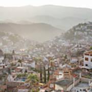 Sunrise In Taxco, Guerrero, Mexico Art Print