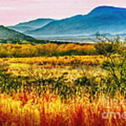 Sunrise In Verde Valley Arizona Art Print