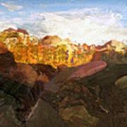 Sunrise In Zion Art Print