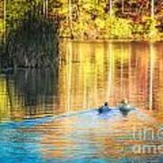 Sunrise Lake Rendezvous Art Print